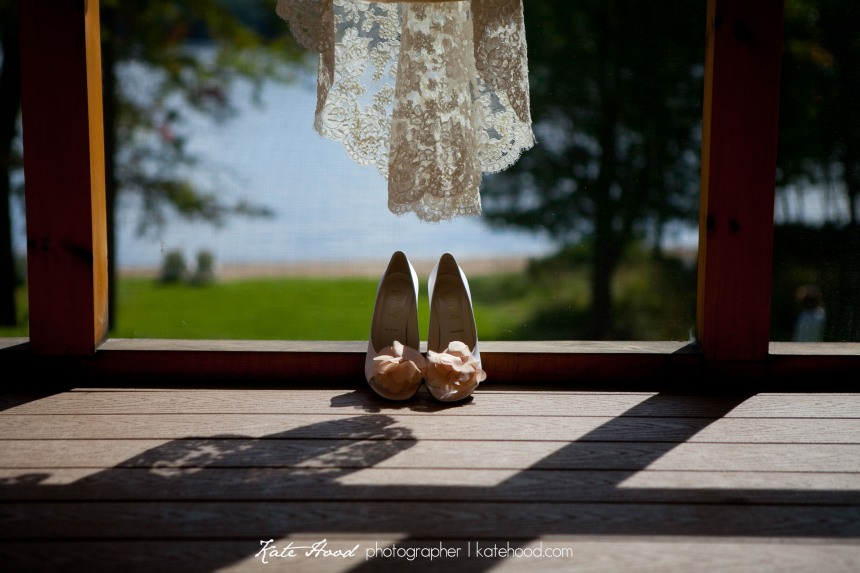 Wedding photos at Port Cunnington Lodge