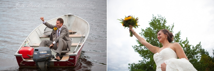 Cottage Wedding Pictures in Muskoka