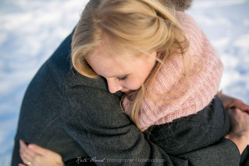 Winter Engagement Photos Muskoka