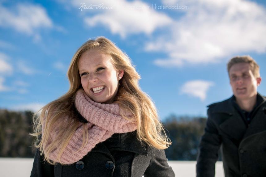 Winter Engagement Photos Muskoka