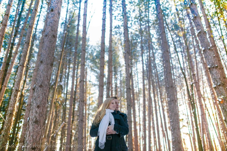 Winter Forest Engagement Session Muskoka