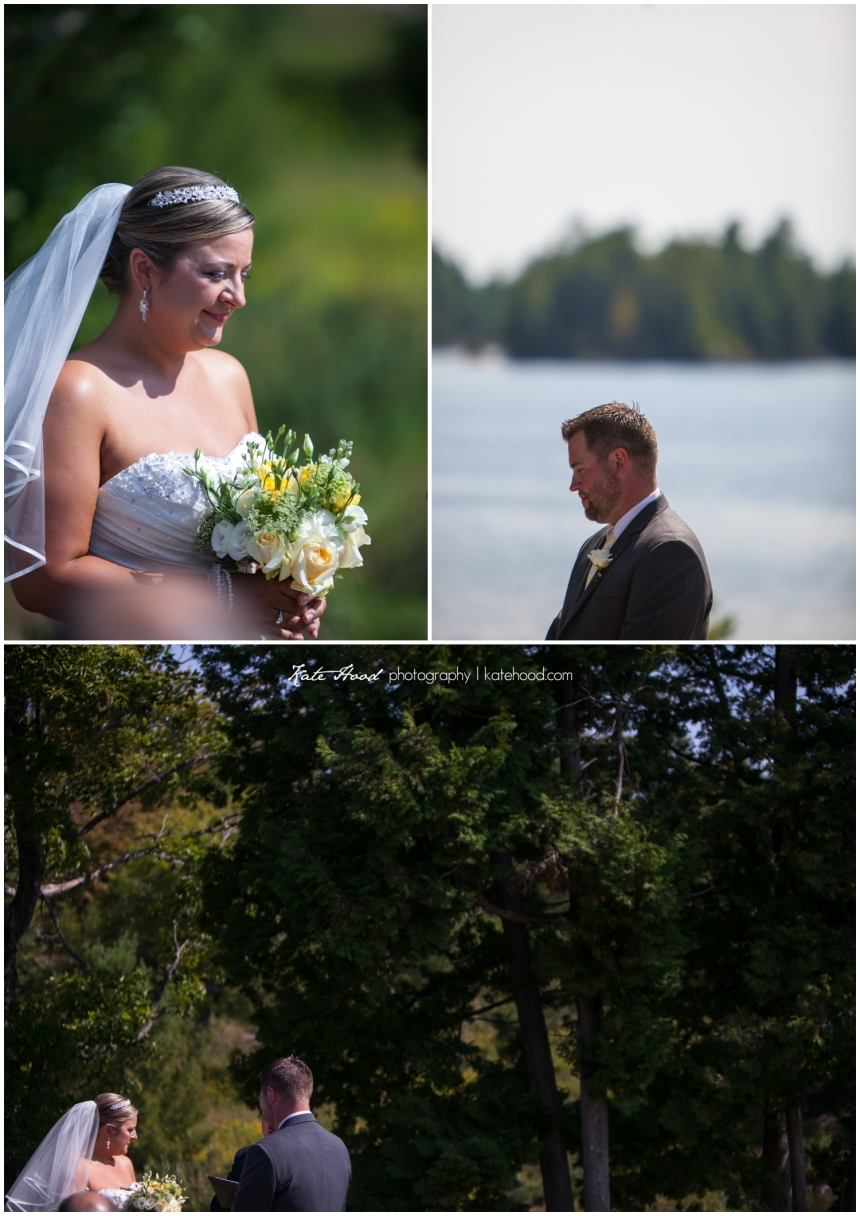 Outdoor Wedding Ceremony in Parry Sound