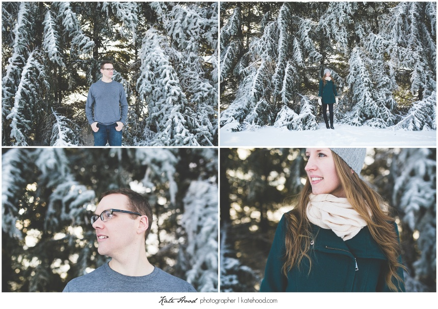 Brampton Winter Engagement Photography