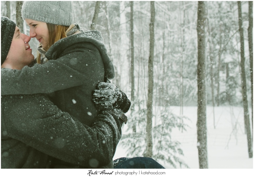 Muskoka Winter Engagement Photos
