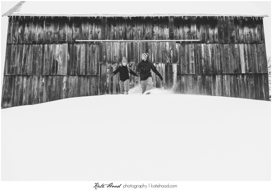 Huntsville Ontario Winter Engagement Photos