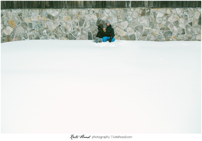 Winter Barn Engagement Photos