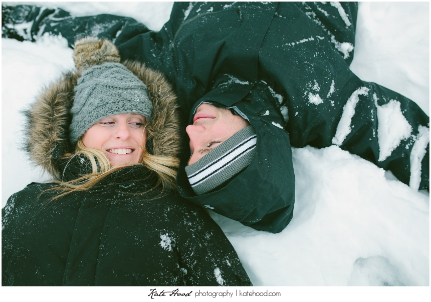 Engagement Photos in the Snow
