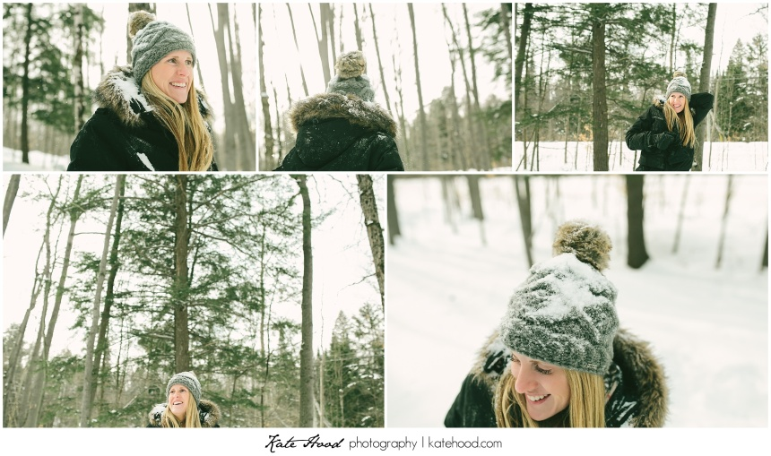 Muskoka Winter Engagement Photographs