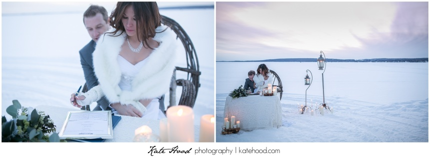 Winter Wedding Ceremonies on Ontario